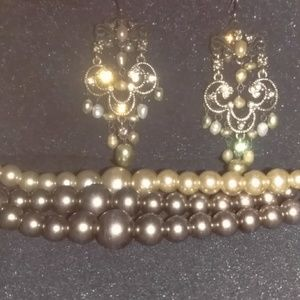 Jewelry - Mocha pearl jewelry set
